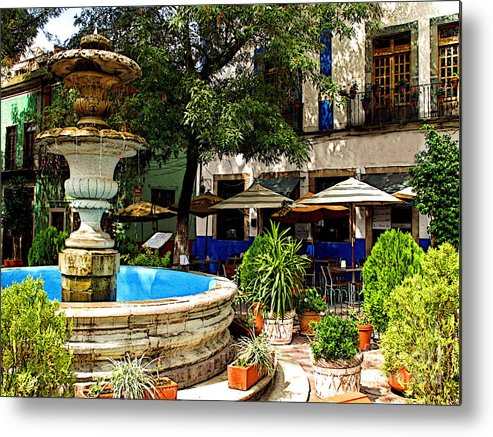 Darian Day Metal Print featuring the photograph Sundrenched Plaza 3 by Mexicolors Art Photography