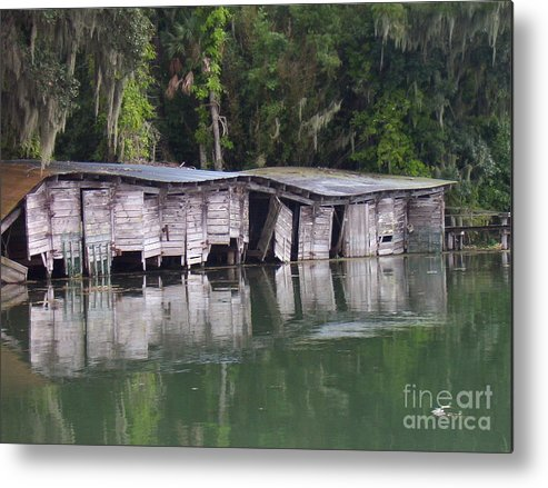 Nature Metal Print featuring the photograph Sunken by Stephanie Richards