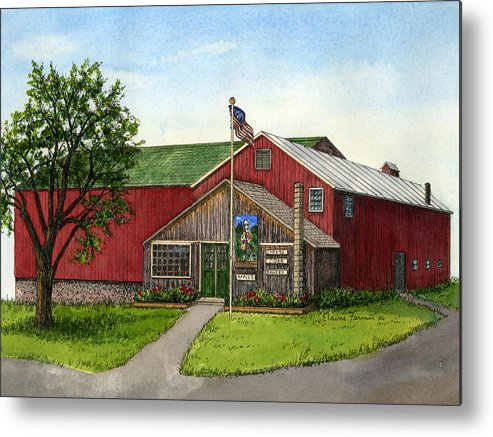 Londonderry Metal Print featuring the painting Sunnycrest Farm by Elaine Farmer