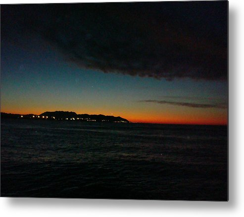 Sunrise Metal Print featuring the photograph Sunrise From The Boat by Liz Vernand