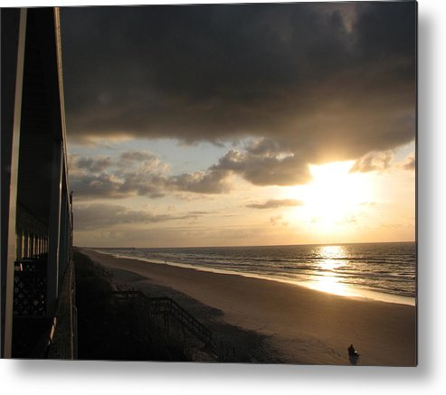 Topsail Metal Print featuring the photograph Sunrise From The Porch by April Camenisch