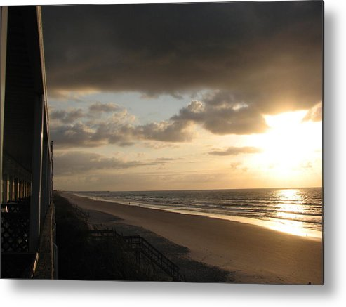 Topsail Metal Print featuring the photograph Sunrise From The Porch II by April Camenisch