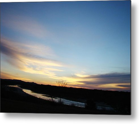Landscape Metal Print featuring the photograph Sunrise River Two by Ana Villaronga