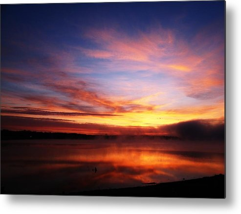 Metal Print featuring the photograph Sunrise Thunderbird by Laura Lanig