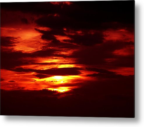 Sunset Photography Metal Print featuring the photograph Sunset 3 by Evelyn Patrick