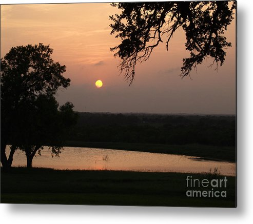 Southern Star Ranch Metal Print featuring the photograph Sunset At The Southern Star Ranch by Bill Hyde