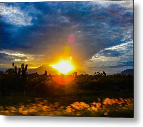 Sunset Metal Print featuring the photograph Sunset by Odilia Ruiz