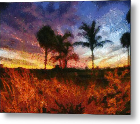 Sunset Metal Print featuring the photograph Sunset Impression by Tawes Dewyngaert