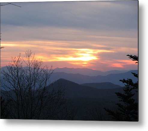 North Carolina Metal Print featuring the photograph Sunset In Carolina by April Camenisch