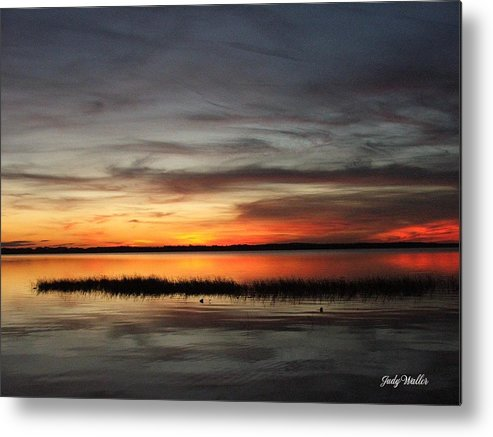 Sunset Metal Print featuring the photograph Sunset On Lake Lochloosa by Judy Waller