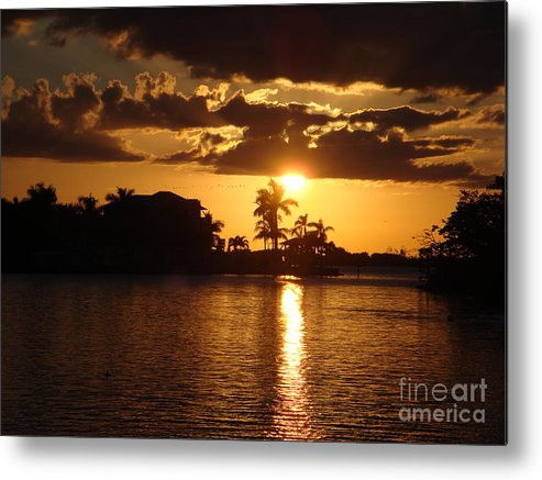 Sunset Metal Print featuring the photograph Sunset On The Bay by Robyn Leakey