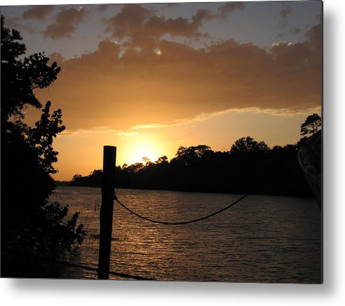 Dock Metal Print featuring the photograph Sunset On The Dock by April Camenisch