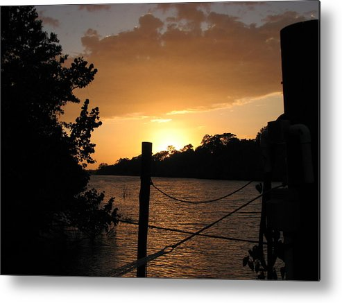 Sunset Metal Print featuring the photograph Sunset On The Dock II by April Camenisch
