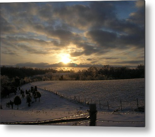 Sunset Metal Print featuring the photograph Sunset On The Farm by Martie DAndrea