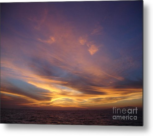 Sunset Metal Print featuring the photograph Sunset Over Island by Chad Natti