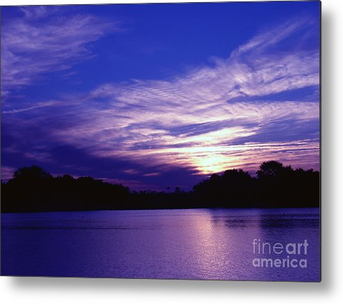 Sunset Metal Print featuring the photograph Sunset Over The Intercoastal by Tobi Czumak