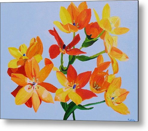 Flowers Metal Print featuring the painting Sunstar by Rodney Campbell