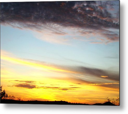 Sunset Metal Print featuring the photograph Supernatural Sunset One by Ana Villaronga