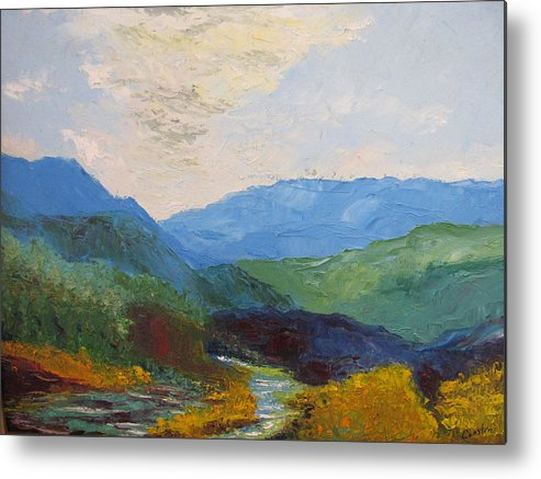 Landscape Metal Print featuring the painting Susquahanna by Belinda Consten