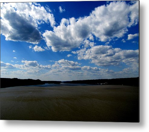 Clouds Metal Print featuring the photograph Susquehanna River by Lisa Jayne Konopka