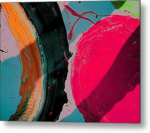 Abstract Art Metal Print featuring the painting Swirling Series 1 by Teo Santa