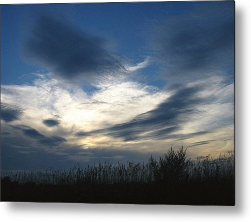 Sky Metal Print featuring the photograph Swirling Skies by Rhonda Barrett