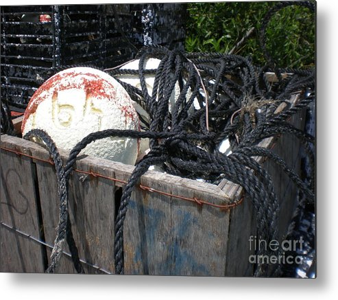 Float Metal Print featuring the photograph Tackle Box by Jeffrey Zipay