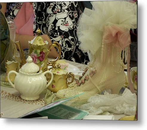 Digital Photography Metal Print featuring the photograph Tea For Two by Laurie Kidd