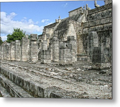Mexico Metal Print featuring the photograph Temple Of The Warriors - Chichen Itza - Mexico by Renata Ratajczyk