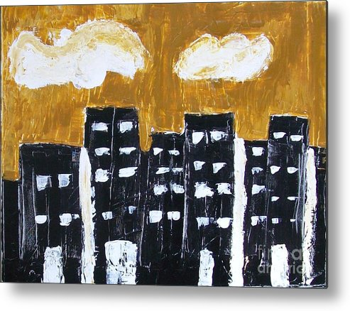 Painting Metal Print featuring the painting Tenth Avenue by Marsha Heiken