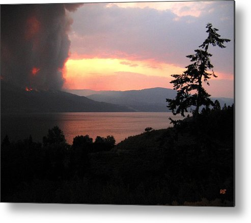 Forest Fire Metal Print featuring the photograph Terrace Mountain Fire 4 by Will Borden