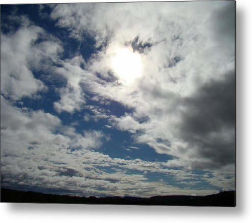 Sky Metal Print featuring the photograph Texas Blue Sky Two by Ana Villaronga