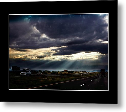 Photo Metal Print featuring the photograph Texassky by Richard Gordon