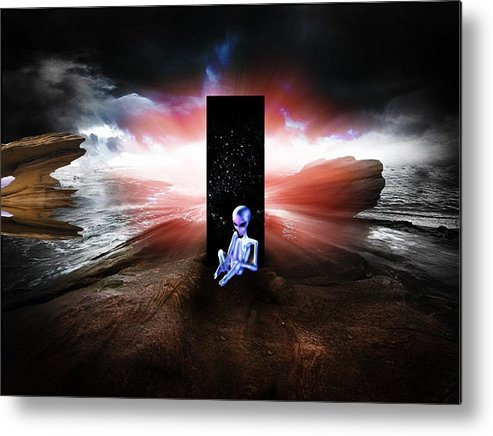 Arrival Metal Print featuring the mixed media The Arrival by Animi Dawn