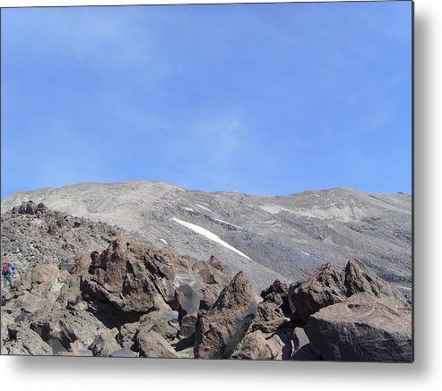 Mt St Helens.mountains Metal Print featuring the photograph The Base Of Mt St Helens by Jeff Swan