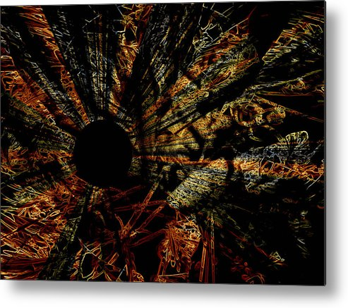 Abstract Metal Print featuring the photograph The Black Hole by Martin Morehead