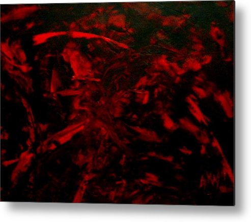 Abstract Metal Print featuring the painting The Blood by Guillermo Mason