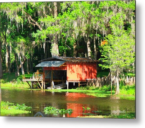 Boathouse Metal Print featuring the photograph The Boat House by Judy Waller