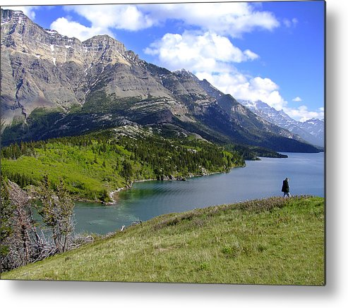 Waterton Lakes National Park Metal Print featuring the photograph The Bosporus Waterton Park by George Cousins