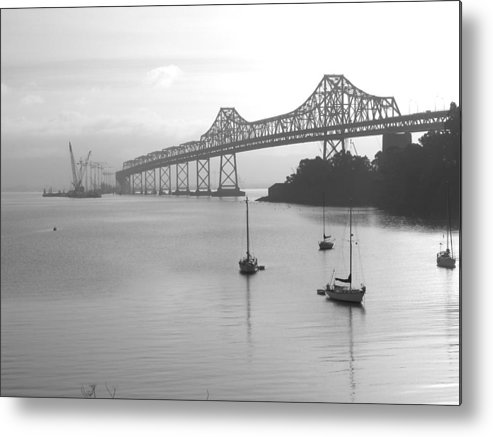 Bridges Metal Print featuring the photograph The Bridge Is Coming by Jerry Patchin