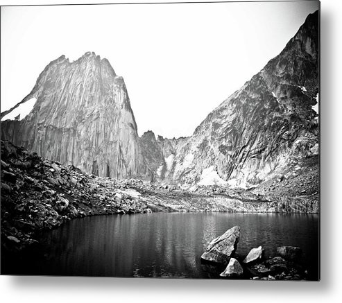 Bugaboo Mountains Metal Print featuring the photograph The Bugaboo Spires by Rebecca Wineka