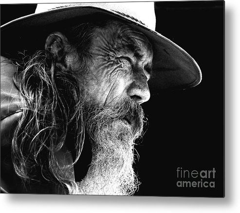 Australian Bushman Hat Metal Print featuring the photograph The Bushman by Sheila Smart Fine Art Photography