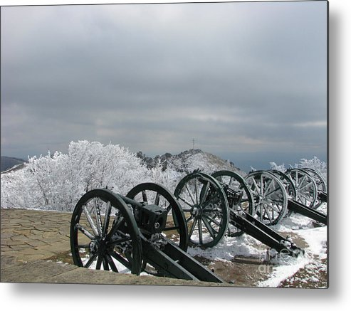 Cannon Metal Print featuring the photograph The Cannons At Shipka by Iglika Milcheva-Godfrey