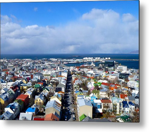 Cityscape Metal Print featuring the photograph The Colours Of Reykjavik by Nathalie Laurent-Marke