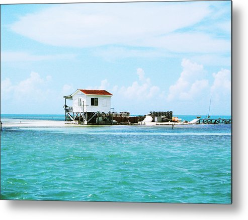 Sand Metal Print featuring the photograph The Crab Shack by Eliot LeBow