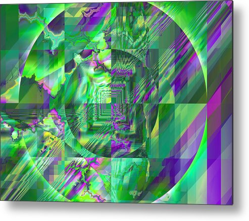 Fractal Metal Print featuring the digital art The Crazy Fractal by Frederic Durville