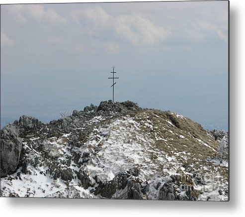 Monument Metal Print featuring the photograph The Cross At Shipka by Iglika Milcheva-Godfrey