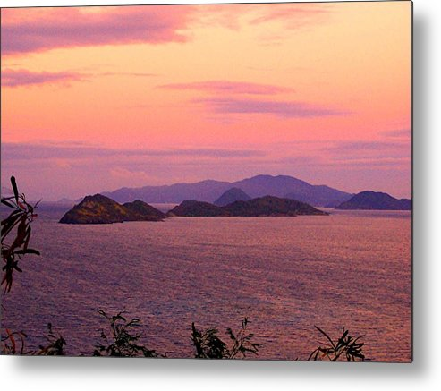 Sun Metal Print featuring the photograph The Dawn Of Time Over St. Thomas by Caroline Urbania Naeem