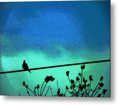 Abstract Metal Print featuring the photograph The Dove Above 2 by Lenore Senior