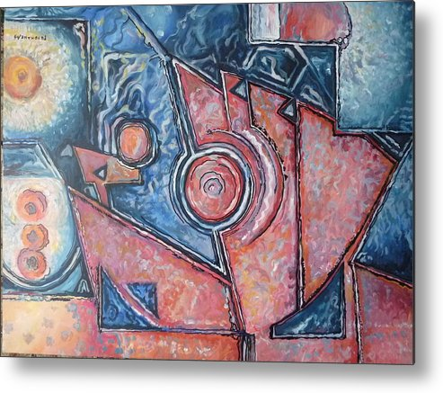 Abstract Metal Print featuring the painting The Eye by Efren Teves